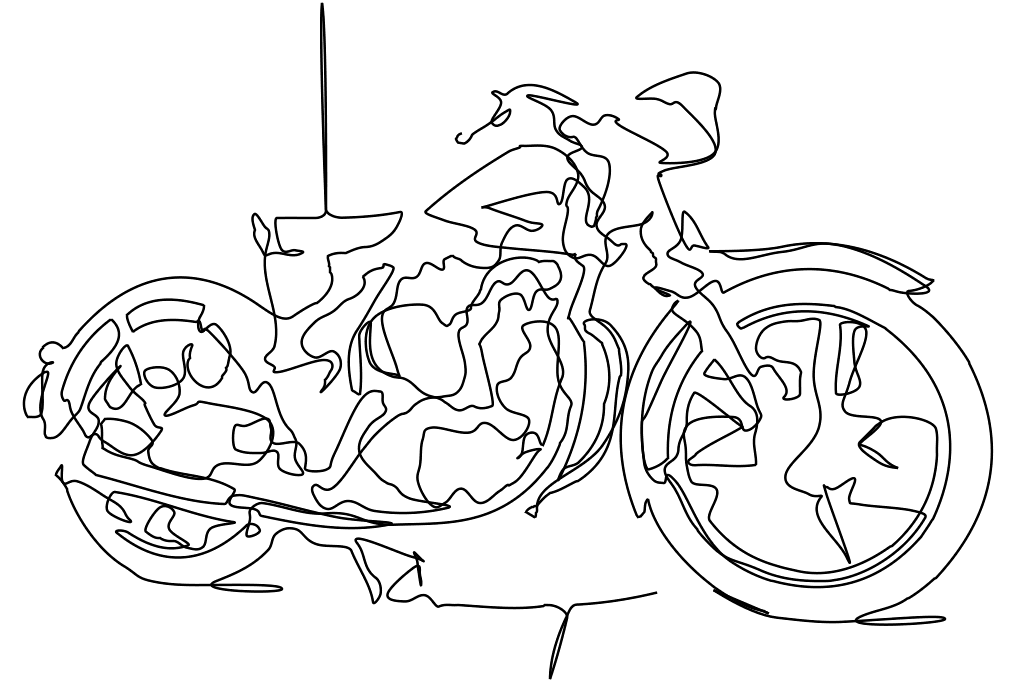 A Graph Based Approach To Continuous Line Illustrations With