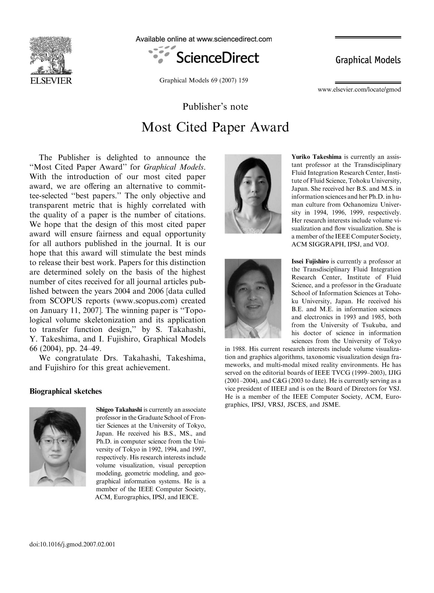 most cited paper Most cited paper award theranostics is very pleased to announce the most cited paper award to the paper published in the past two years that attracts the most.
